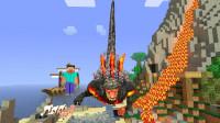 GMOD游戏熔浆哥斯拉在火山背着一百个小迪迦做俯卧撑