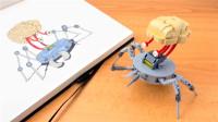 乐高MOC拼装一个大脑怪物机器人积木