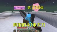 我的世界阿阳暮色奇遇206:阿阳的40米长刀,无附魔攻击高达12点