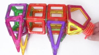 大象玩具屋:教宝宝玩磁力片之小猪