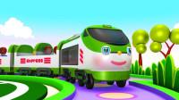 乘坐小火车玩具来到美丽的小岛