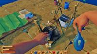 木筏求生02:我制造了一个烧烤架,终于吃上烤鱼了