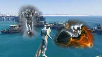 【醉酒】GTA5MOD 行星吞噬使者银影侠,拥有无限能量宇宙大爆炸!