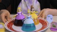 超美的迪士尼公主,原来是果冻做成的,学会了送给你的女孩吧