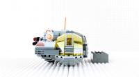 定格动画-乐高城市故事之星球大战BB-8搭建星际战斗机积木