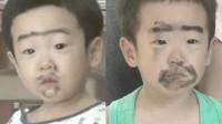 双胞胎大清早就淘气,书俊又像三年前那样被爸爸惩罚了