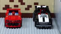 乐高定格动画:汽车比赛 - 蝙蝠侠对战蜘蛛侠