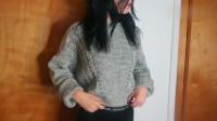 年度时尚:分享冬季内搭单品,灰色短款毛衣,姜黄色紧身小高领打底衫