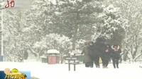 北京:迎来今冬最大一场降雪 共度晨光 20190216