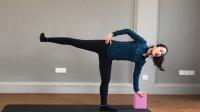 超简单的腿部瑜伽,每天3分钟就够了,坚持1个月,腿型细直又修长