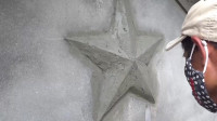 水泥的五角星该怎么砌?一个工具就够了,瞬间让你看懂