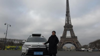 穿越欧亚大陆第二十四集 小伙把中国牌照汽车开到了巴黎埃菲尔铁塔下面