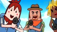 搞笑吃鸡动画:瓦特的车技,马可波的身法,霸哥的枪法,三人结合会是什么感觉