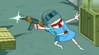 搞笑吃鸡动画:萌妹为霸哥三人复仇,身段手法是个十足的美少女战士