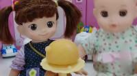 芭比娃娃的冰淇淋食玩分享会,爱吃雪糕的小宝宝