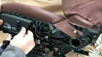宝马4S店师傅更换五系座椅座套实录,原来座套开裂是通病