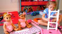 萌娃小可爱:宝宝们该睡午觉了哟!姐姐马上帮你们搭一张漂亮的小床