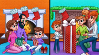 脑力测试:正在送礼物的两个家庭中,哪一个家庭最富裕?