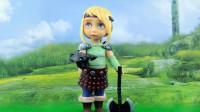 芭比娃娃美妆秀:将艾莎女王重新化妆打扮成帅气的驯龙战士