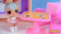 乐趣萌宝:水晶芭比娃娃约姐妹淘出去玩,彩色橡皮泥捏出新裙子