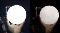 超级月亮来袭 男子自制迷你小月球受追捧