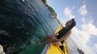 体验菲律宾长滩潜水游 女主播呐喊:太平洋我来了,变成了美人鱼