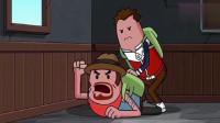 搞笑吃鸡动画:霸哥二人躲楼上被小学生骂死都不出来,结局意外吃鸡
