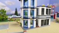 乐高小镇施工队,为市民平整荒地快速建造了一座新的警察局