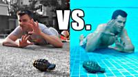 手榴弹爆炸时,趴在地下跳进水里哪个更安全?老外亲自求证!