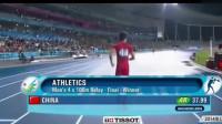 接力赛决赛,中国小伙打败日本队创下亚洲纪录!