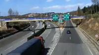 高速上女司机逼翻大货车,监控拍下了令人发指的一刻