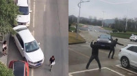 女司机找停车位太搞笑了!