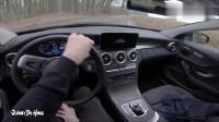 坐进2019款奔驰C级双门轿跑车,全液晶仪表太耀眼了!
