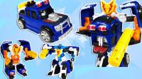 变形机器人玩具还原大卡车