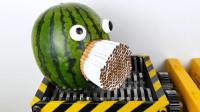 粉碎机VS西瓜与香烟,你猜结果会怎样?睁大眼睛看仔细!