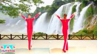 原创跳跳乐第17套快乐舞步健身串烧操第二节正反面教学版