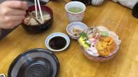 北海道小樽三角市场30元一碗螃蟹汤