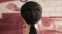造型师简单易学的个性编发,打造气质甜美发型