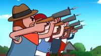 搞笑吃鸡动画:霸哥带领队友巧妙玩转近战模式,这套路果然厉害!