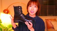 年度时尚:黑色拼接短靴分享,细节很有设计感,秋冬季很好搭的款式