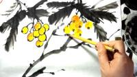 写意枇杷的基本画法-小石国画