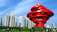 中国最大的钢质雕像,消耗500吨钢材,成为青岛地标性建筑