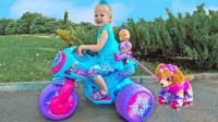 超可爱,萌宝小萝莉带宝宝和汪汪队天天去游乐园,他们都玩了啥?