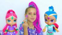 国外小女孩仿妆芭比娃娃,美妆打扮成的两种风格你更喜欢哪一种?