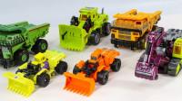 挖掘机自卸卡车推土机变形酷炫机器人玩具