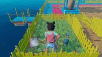 木筏求生-海上漂流记 栅栏里全部铺上草坪!小鸡不会饿着了吧