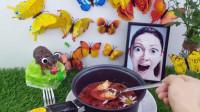 做了一锅蝴蝶汤,里面加了水晶珠和花瓣,喝汤的声音听起来超舒适
