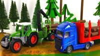 工程小车们一起运送木材