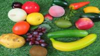 玩玩具认识彩色的水果蔬菜