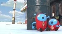 杰力豆:下雪啦,豆子们玩起了刺激的打雪仗!